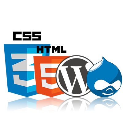 HTML, CSS, jQuery, Wordpress e Drupal