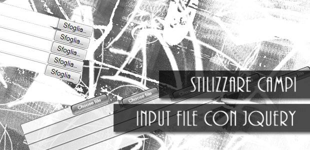 Testata articolo stilizzare campi input file con jquery