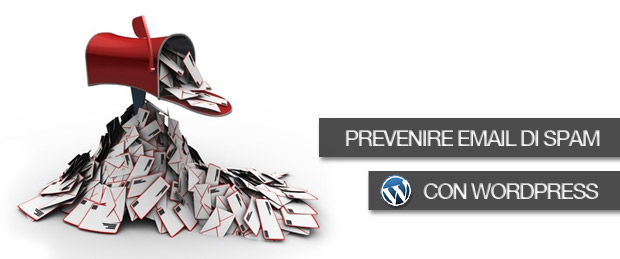 Prevenire email spam con wordpress