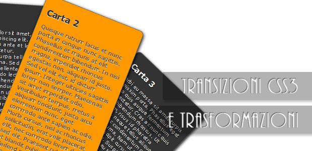 Testata articolo transizioni e rotazioni css3