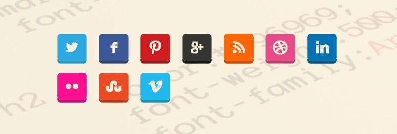 Icone Social Media CSS3